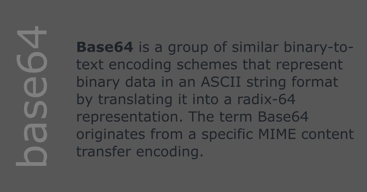✨ Base64 decode binary file online   Base64 Encode & Decode